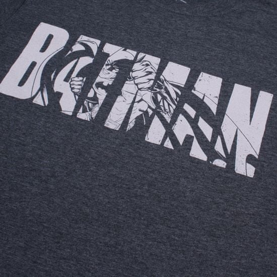 TM & DC comics Batman Text moška majica, temno siva