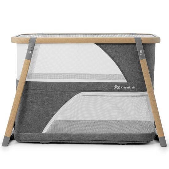 KinderKraft 2u1 Sofi putni krevet, sivi