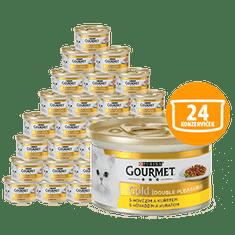 Gourmet Gold govedina s piščancem, 24 x 85 g