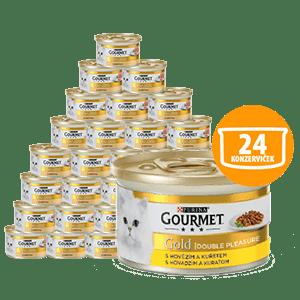 Gourmet Gold hovädzie s kuraťom 24 x 85 g
