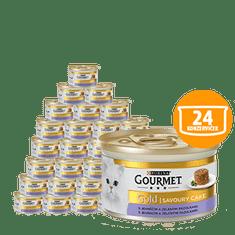 Gourmet Gold Savoury Cake pašteta za odrasle mačke, z jagnjetino in zelenim fižolom, 24 x 85 g