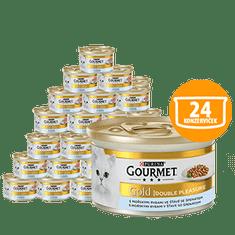 Gourmet hrana za mačke Gold, morska riba sa špinatom, 24 x 85 g