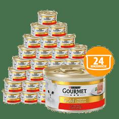 Gourmet Gold pašteta z govedino, 24 x 85 g