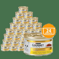 Gourmet Gold Casserole s govedinom i piletinom u umaku od rajčice, 24x85 g
