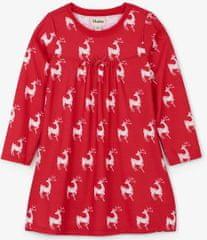 Hatley dekliška spalna srajca z motivom srnic, 92, rdeča