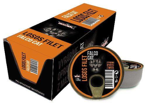 FALCO Cat Filet z lososa 8x120g