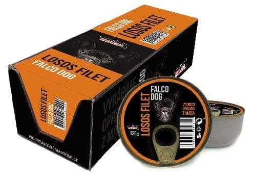 FALCO karma dla psów Dog filet z łososia, 8 x 120 g