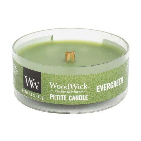 Woodwick vonná svíčka Petite, Vůně jehličí 31 g