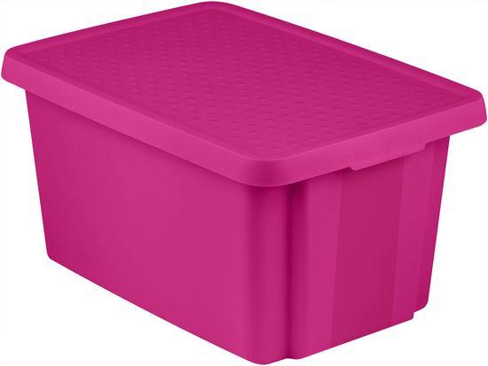 Curver Úložný box ESSENTIALS 45 l s víkem fialový