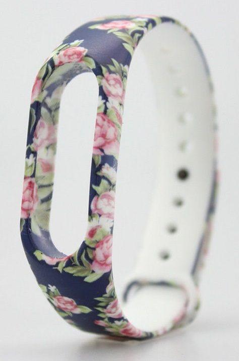 eses Modrý květinový náramek pro Xiaomi Mi Band 2 1530000233