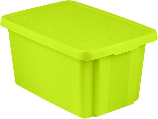 CURVER pojemnik z pokrywą ESSENTIALS 45 l, zielony