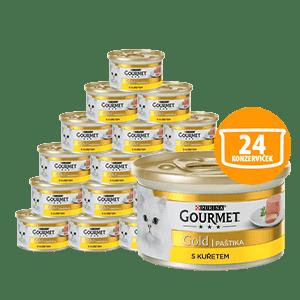 Gourmet Gold paštéta s kuraťom 24 x 85 g
