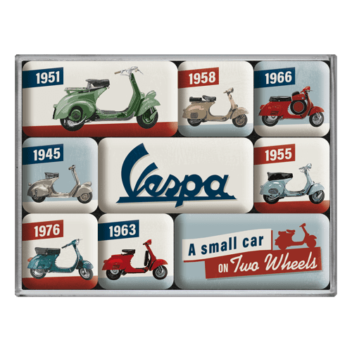 Postershop Sada magnetů - Vespa (A Small Car on Two Wheels)