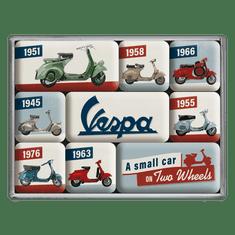 Postershop Sada magnetů - Vespa (A Small Car on Two Wheels)