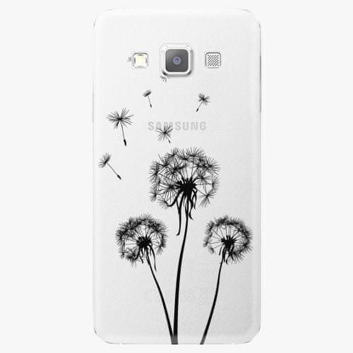 iSaprio Plastový kryt - Three Dandelions - black - Samsung Galaxy A7