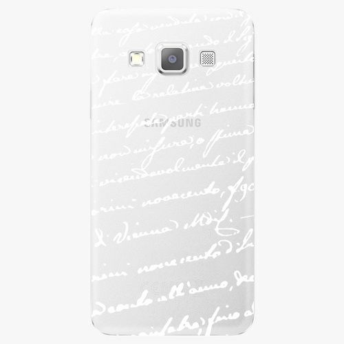 iSaprio Plastový kryt - Handwriting 01 - white - Samsung Galaxy A7