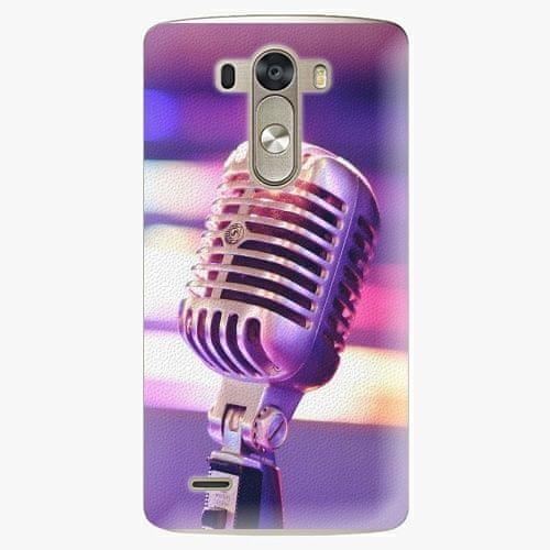 iSaprio Plastový kryt - Vintage Microphone - LG G3 (D855)