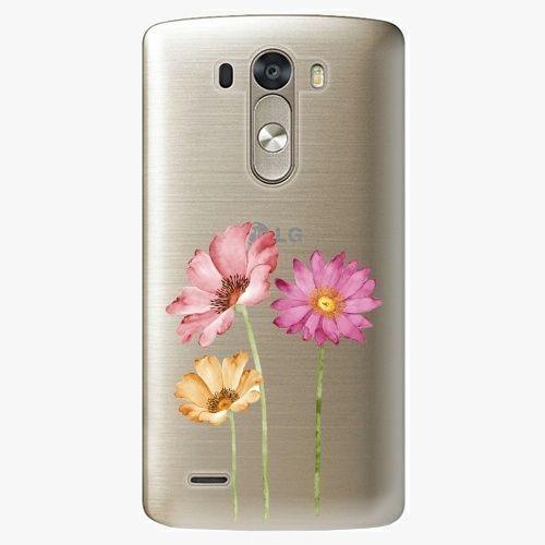 iSaprio Plastový kryt - Three Flowers - LG G3 (D855)