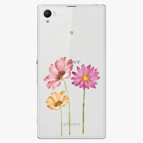 iSaprio Plastový kryt - Three Flowers - Sony Xperia Z1 Compact