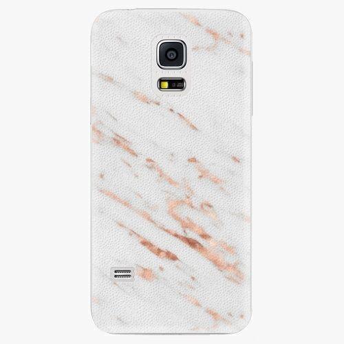 iSaprio Plastový kryt - Rose Gold Marble - Samsung Galaxy S5 Mini