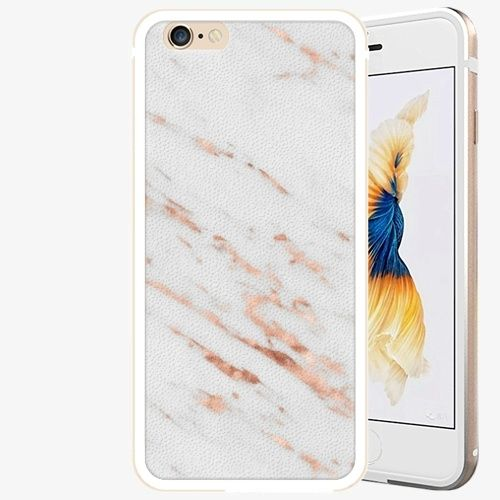 iSaprio Plastový kryt - Rose Gold Marble - iPhone 6/6S - Gold