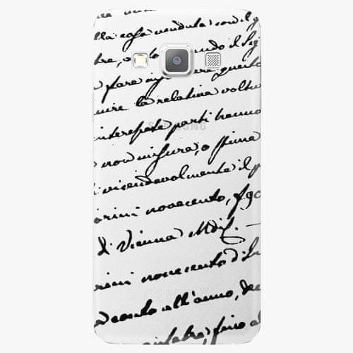 iSaprio Plastový kryt - Handwriting 01 - black - Samsung Galaxy A7