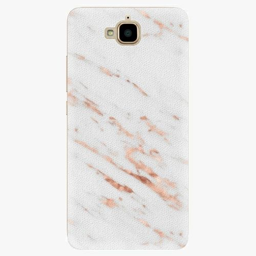 iSaprio Plastový kryt - Rose Gold Marble - Huawei Y6 Pro