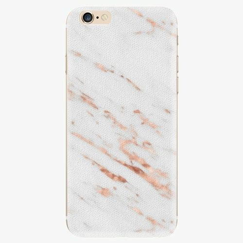 iSaprio Plastový kryt - Rose Gold Marble - iPhone 6/6S