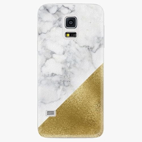 iSaprio Plastový kryt - Gold and WH Marble - Samsung Galaxy S5 Mini
