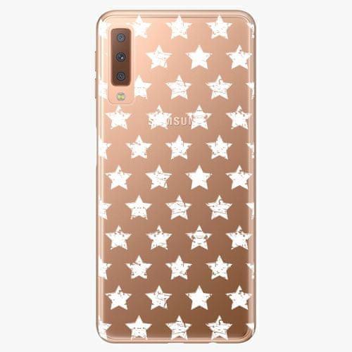 iSaprio Plastový kryt - Stars Pattern - white - Samsung Galaxy A7 (2018)