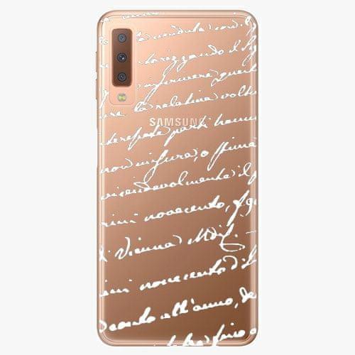 iSaprio Plastový kryt - Handwriting 01 - white - Samsung Galaxy A7 (2018)
