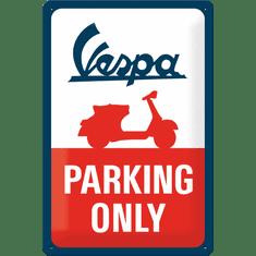 Postershop Plechová cedule Vespa Parking Only, 30 × 20 cm