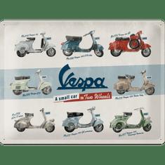 Postershop Plechová cedule Vespa (A Small Car on Two Wheels), 40 × 30 cm