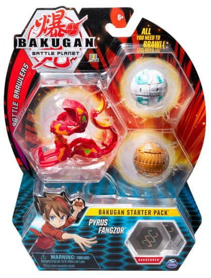Bakugan Startovací sada 3 ks Pyrus Fangzor