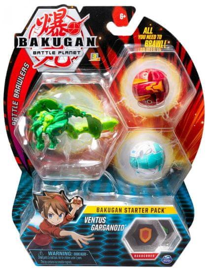 Bakugan Startovací sada 3 ks Ventus Garganoid