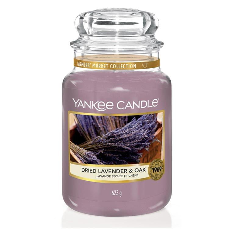Yankee Candle vonná svíčka Dried Lavender & Oak 623 g