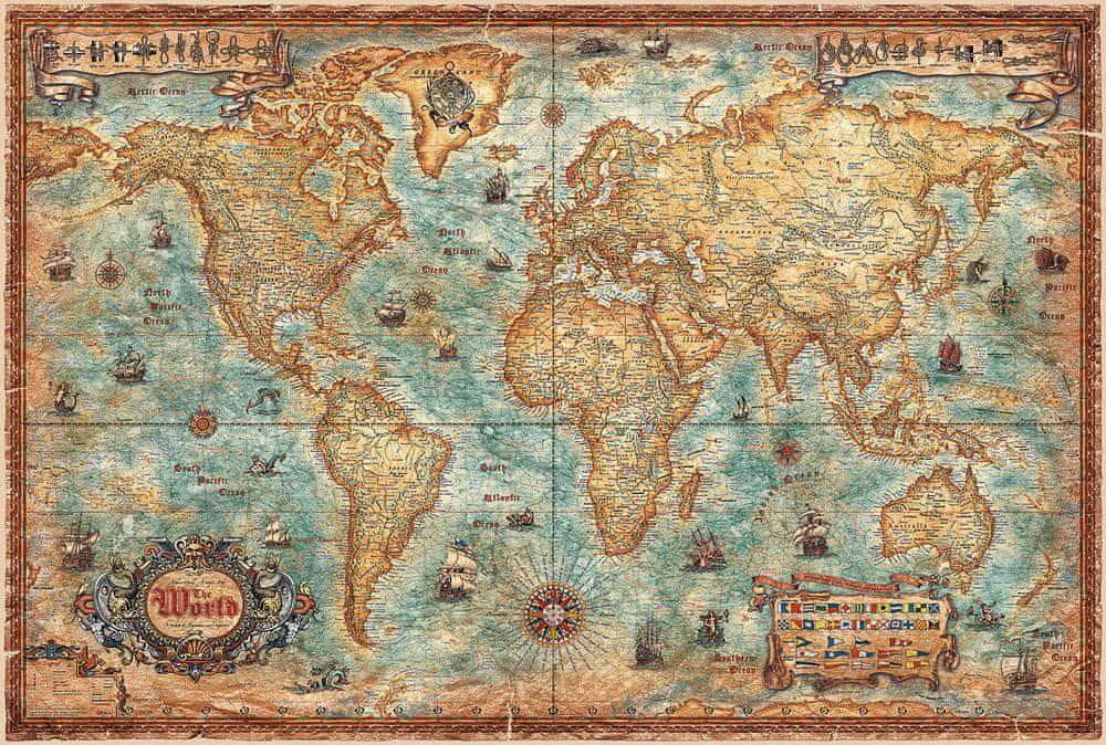 Svět - nástěnná mapa Ray World 136 x 92 cm - laminovaná mapa v lištách