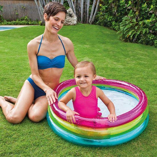 Intex 57104 Bazén nafukovací dětský duha 86x25cm