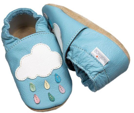 baBice papuče za djecu s oblacima