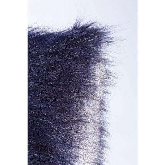 KARE Polštářek Ontario Fur - černý, 60×60 cm