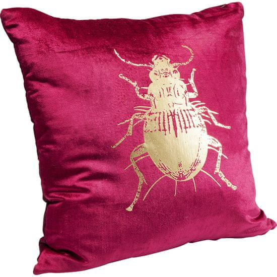 KARE Polštářek Bug - fialový, 45×45 cm