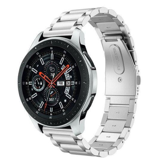 eses Kovový řemínek stříbrný pro samsung galaxy watch 46mm/samsung gear s3/huawei watch 2 1530001062