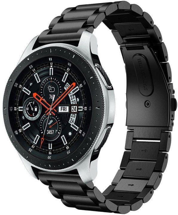 eses Kovový řemínek černý pro Samsung Galaxy Watch, 42mm / Samsung Gear Sport, Garmin 3 1530001055