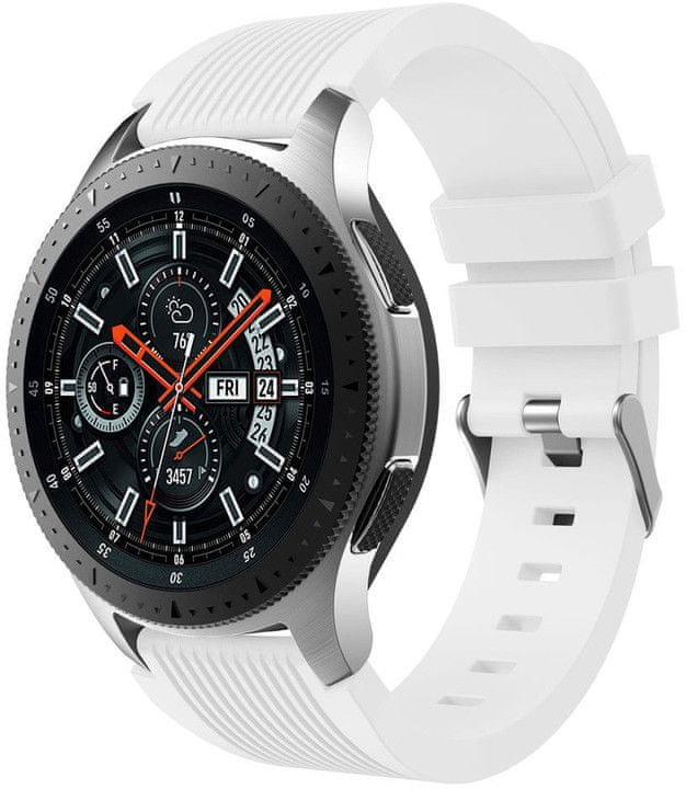 eses Silikonový řemínek bílý pro Samsung Galaxy Watch 46mm/Samsung Gear S3 1530001036