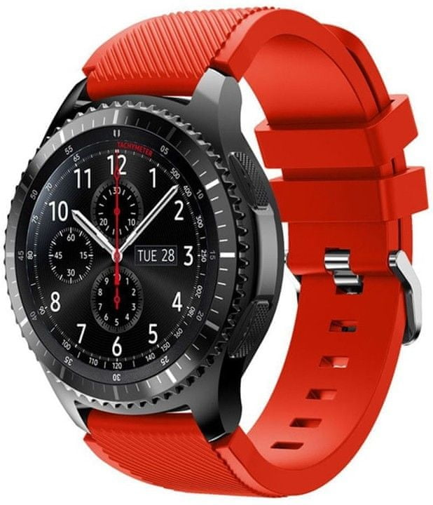 eses Silikonový řemínek červený pro Samsung Galaxy Watch 46mm/Samsung Gear S3 1530001034