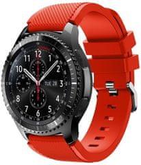 eses Silikónový remienok červený pre Samsung Galaxy Watch 46 mm/Samsung Gear S3 1530001034