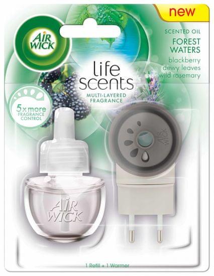 Air wick dišeč električni komplet Life Scents Forest Waters, 19 ml