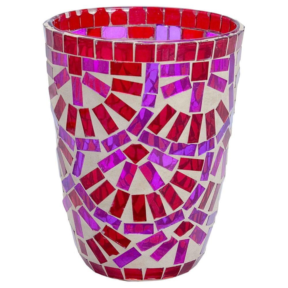 Butlers Lucerna na svíčku 12 cm - červená/růžová
