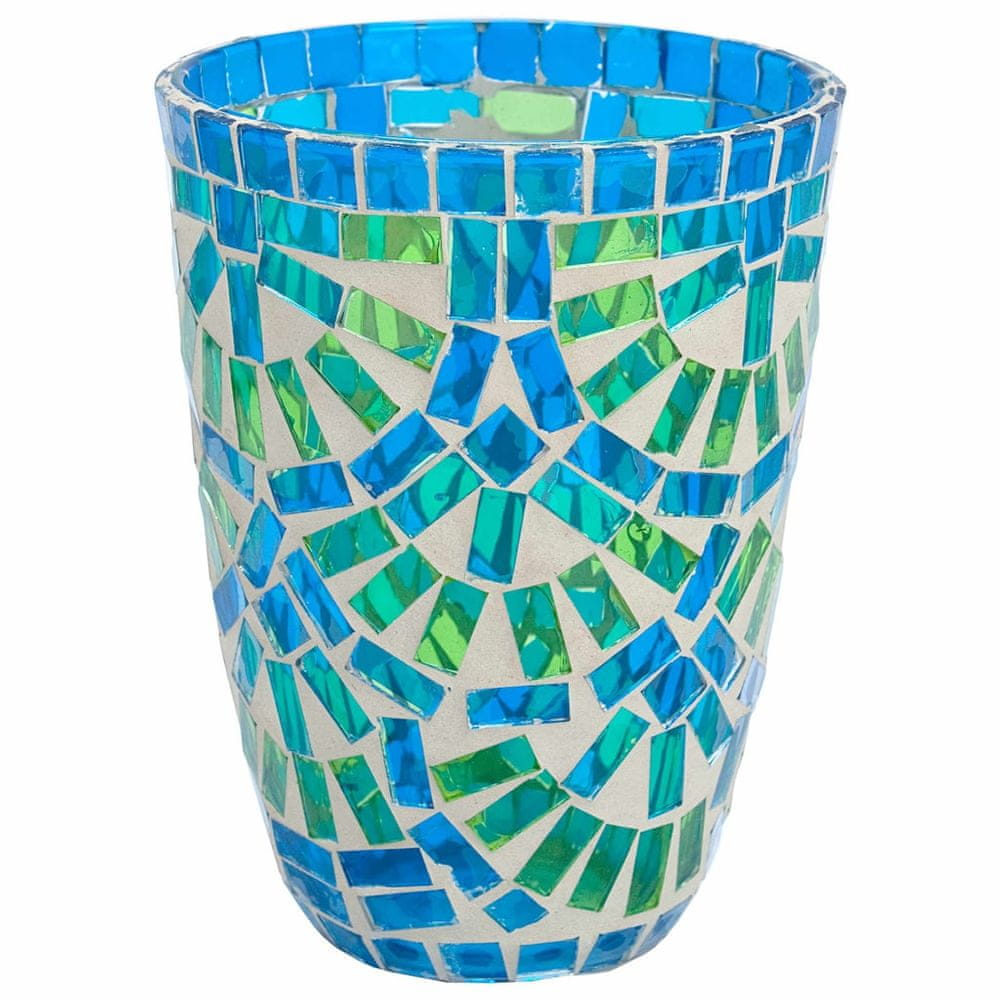 Butlers Lucerna na svíčku 12 cm - modrá/zelená