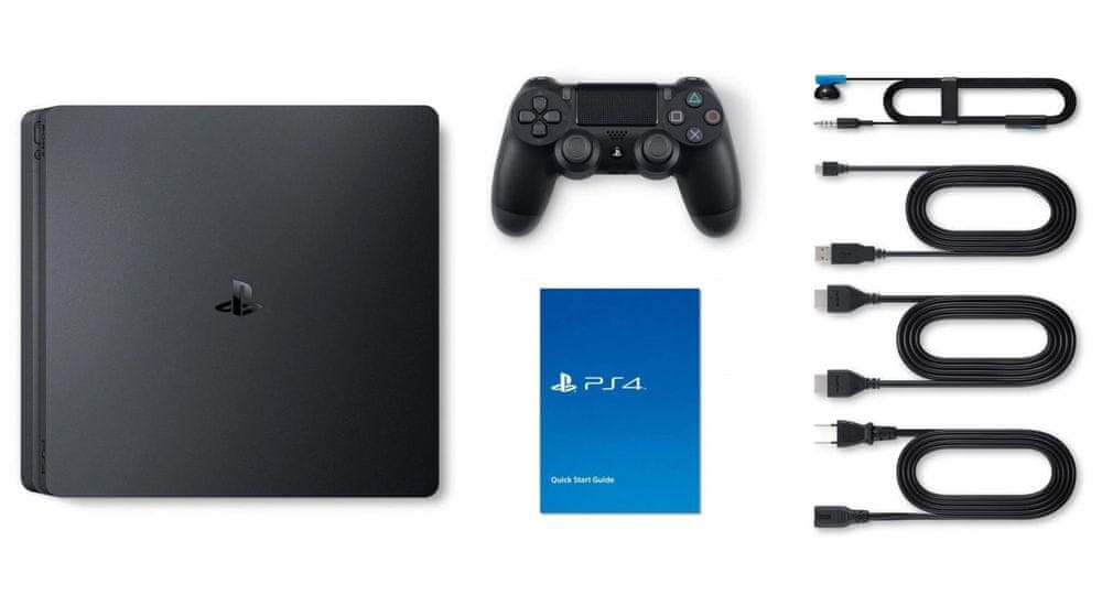 Sony PlayStation 4 Slim - 500 GB + balíček Fortnite, (PS719940104)